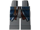 Part No: 970c00pb0162  Name: Hips and Legs with Dark Blue Vest Tails and Belt Pattern (Boromir)