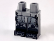 Part No: 970c11pb45  Name: Minifigure, Legs with Hips - Black Legs with Dark Bluish Gray Armor Panels Pattern