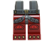 Part No: 970c59pb04  Name: Hips and Dark Red Legs with Dark Bluish Gray Straps, Red Knee Pads and Gold Talons Pattern