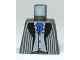 Part No: 973pb0060a  Name: Torso Harry Potter Pinstripe Suit Jacket, Vest Light Bluish Gray, Blue Tie Pattern
