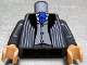 Part No: 973pb0060ac01  Name: Torso Harry Potter Pinstripe Suit Jacket, Vest Light Bluish Gray, Blue Tie Pattern / Dark Bluish Gray Arms / Light Flesh Hands