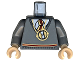 Part No: 973pb0317c01  Name: Torso Harry Potter Sweater and Tie Gryffindor Colors with Pendant Necklace Pattern / Dark Bluish Gray Arms / Light Flesh Hands