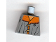 Part No: 973pb0400  Name: Torso Harry Potter Jacket, Dark Orange Mouton Collar and Toggle Buttons Pattern