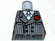 Part No: 973pb0599  Name: Torso Indiana Jones Pinstripe Suit Jacket, Tie, Red Flower in Lapel Pattern