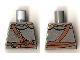 Part No: 973pb0680  Name: Torso Castle Kingdoms Chest Strap and Belt Front and Back Pattern