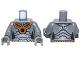 Part No: 973pb1060c01  Name: Torso SW Geonosian Zombie Pattern / Dark Bluish Gray Arms / Dark Bluish Gray Hands