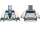 Part No: 973pb1314c01  Name: Torso SW Umbaran Soldier Armor Pattern / White Arms / Dark Bluish Gray Hands