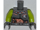 Part No: 973pb1333c01  Name: Torso Space Armor with 'SHAMI' and Silver Belt Pattern / Lime Arms / Dark Bluish Gray Hands