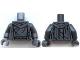 Part No: 973pb1548c01  Name: Torso Robe with Cracks Pattern (Statue at Dol Guldur) / Dark Bluish Gray Arms / Dark Bluish Gray Hands