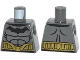 Part No: 973pb1632  Name: Torso Batman Logo with Muscles and Gold Belt Pattern