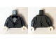 Part No: 973pb2065c01  Name: Torso Suit Tight Fitting with Light Bluish Gray Shirt and Black Bow Tie Pattern / Dark Bluish Gray Arms / White Hands