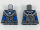 Part No: 973pb2710  Name: Torso Armor with Medium Azure Round Crystal with Blue Tubes Pattern (Mr. Freeze)
