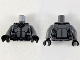 Part No: 973pb3579c01  Name: Torso Armor with Black Panel Lines, Silver Circle and Highlights Pattern / Dark Bluish Gray Arms / Black Hands
