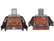 Part No: 973pb3802c01  Name: Torso SW Armor Reddish Brown Plates and Belt Pattern (Mandalorian) / Dark Brown Arms / Black Hands