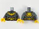 Part No: 973pb3990c01  Name: Torso Female Armor, Bright Light Orange Bat, Utility Belt and Backpack Pattern / Dark Bluish Gray Arms / Bright Light Orange Hands