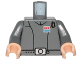 Part No: 973psqc02  Name: Torso SW Imperial Officer 1 (Captain) Pattern / Dark Bluish Gray Arms / Light Flesh Hands