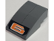 Part No: BA043pb03  Name: Stickered Assembly 2 x 3 x 1 with Orange '6' on Black Background Pattern (Sticker) - Set 8661 - 2 Slopes Curved 3 x 1 No Studs