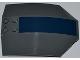 Part No: x224pb021  Name: Windscreen 8 x 6 x 2 Curved with Dark Blue Stripe Pattern (Sticker) - Set 8018