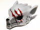 Part No: 11233pb03  Name: Minifigure, Headgear Mask Wolf with Fangs, Stubble and Three Dark Red Gashes Pattern