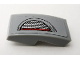 Part No: 11477pb076R  Name: Slope, Curved 2 x 1 No Studs with Headlight Pattern Model Right Side (Sticker) - Set 75910