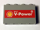 Part No: 14718pb003  Name: Panel 1 x 4 x 2 with Side Supports - Hollow Studs with Shell Logo and 'Shell V-Power' on Red Background Pattern (Sticker) - Set 40194