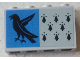 Part No: 14718pb016  Name: Panel 1 x 4 x 2 with Side Supports - Hollow Studs with 8 Black Spires and Raven on Blue Background Pattern (Sticker) - Set 75956