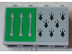 Part No: 14718pb019  Name: Panel 1 x 4 x 2 with Side Supports - Hollow Studs with 8 Black Spires and 3 Arrows on Green Background Pattern (Sticker) - Set 75956