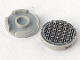 Part No: 14769pb003  Name: Tile, Round 2 x 2 with Bottom Stud Holder with Grille Fine Mesh Pattern