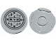 Part No: 14769pb008  Name: Tile, Round 2 x 2 with Bottom Stud Holder with 'N.Y.C.' and Manhole Cover Pattern (Sticker) - Set 79118