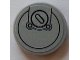 Part No: 14769pb034  Name: Tile, Round 2 x 2 with Bottom Stud Holder with Filler Cap Pattern (Sticker) - Set 60073