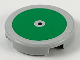 Part No: 14769pb317  Name: Tile, Round 2 x 2 with Bottom Stud Holder with Large Green Circle and Black Center Dot Pattern