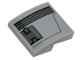 Part No: 15068pb167L  Name: Slope, Curved 2 x 2 No Studs with Black Ace TIE Interceptor Dark Bluish Gray Hull Plate Pattern Model Left Side (Sticker) - Set 75242