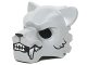 Part No: 15083pb08  Name: Minifigure, Headgear Mask Tiger with White Fangs, Black Fur and Open Mouth with Teeth Pattern