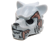 Part No: 15083pb09  Name: Minifigure, Headgear Mask Tiger with White Fang, Copper Fang and Copper Armor with Rivets Pattern