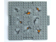 Part No: 15623pb003  Name: Brick, Modified 16 x 16 x 2/3 with 1 x 4 Indentations and 1 x 4 Plate with Cracks and Lava Pattern