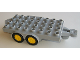 Part No: 18520c01  Name: Duplo Trailer Flatbed 4 x 8 Studs with Hitch Ends and 4 Wheels