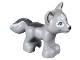 Part No: 19532pb03  Name: Fox, Friends / Elves with Black Nose, Bright Light Blue Eyes, White Blaze and Eye Borders and Dark Bluish Gray Tail Pattern
