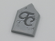 Part No: 22385pb190  Name: Tile, Modified 2 x 3 Pentagonal with Dark Bluish Gray 'TC' and Dark Bluish Gray Cracks Pattern