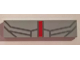 Part No: 2431pb503  Name: Tile 1 x 4 with Vertical Red Stripe and Dark Bluish Gray Thin Lines Pattern