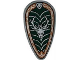 Part No: 2586pb003  Name: Minifigure, Shield Ovoid with Stag Head Pattern