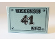 Part No: 26603pb060  Name: Tile, 2 x 3 with 'WISCONSIN 41 MFG' License Plate Pattern (Sticker) - Set 10269