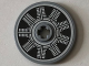Part No: 2958pb068  Name: Technic, Disk 3 x 3 with Silver and Black Radial Engine Pattern (Sticker) - Set 76075