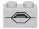 Part No: 3004pb145  Name: Brick 1 x 2 with SW AT-ST Hexagon Panel Pattern (Sticker) - Set 75153