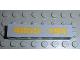 Part No: 3009pb014  Name: Brick 1 x 6 with Yellow '4855-194' Pattern (Sticker) - Set 4855