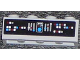 Part No: 3010pb171  Name: Brick 1 x 4 with Control Panel on Black Background Pattern (Sticker) - Set 7964