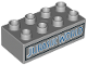 Part No: 3011pb048  Name: Duplo, Brick 2 x 4 with Blue 'JURASSIC WORLD' Pattern