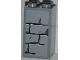 Part No: 30145pb009  Name: Brick 2 x 2 x 3 with Light Bluish Gray Bricks Pattern (Sticker) - Set 4183