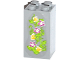Part No: 30145pb014  Name: Brick 2 x 2 x 3 with 3 Magenta Flowers, 3 Yellow Gems and Leaves Pattern (Sticker) - Set 41033