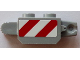Part No: 30386pb04  Name: Hinge Brick 1 x 2 Locking with Red and White Danger Stripes Pattern on Both Sides (Stickers) - Set 60073