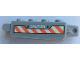 Part No: 30387pb019  Name: Hinge Brick 1 x 4 Locking, 9 Teeth with 'CAUTION' and Orange and White Danger Stripes Pattern on Both Sides (Stickers) - Set 60192
